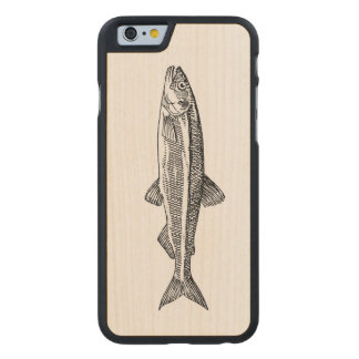 魚のイラストレーションのiPhoneの場合 ケース