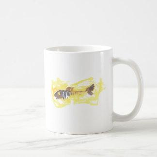 魚のデザイン-赤いテーマ コーヒーマグカップ