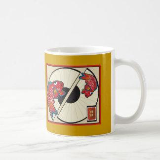 魚のファン コーヒーマグカップ
