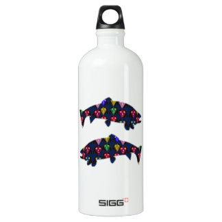 魚のマスの子供のNavinJOSHI色彩の鮮やかなNVN98のおもしろいに直面して下さい ウォーターボトル