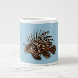 魚のミノカサゴの水生海水のアクアリウム ジャンボコーヒーマグカップ