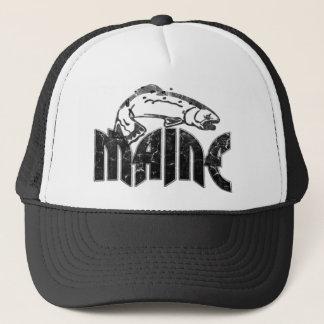 魚のメイン24のヴィンテージのロゴ キャップ