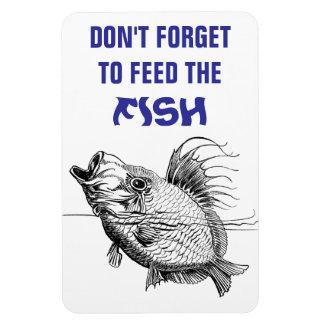 魚のメモのFlexiの磁石を食べ物を与えて下さい マグネット