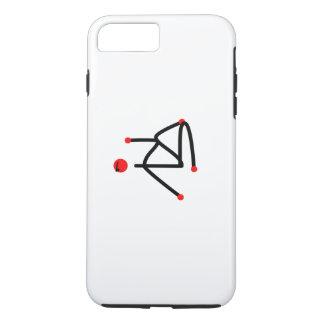 魚のヨガの姿勢の半分の主の棒の姿 iPhone 8 PLUS/7 PLUSケース