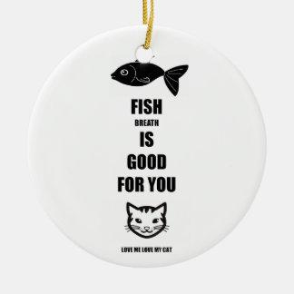 魚の呼吸はあなたのためによいです セラミックオーナメント