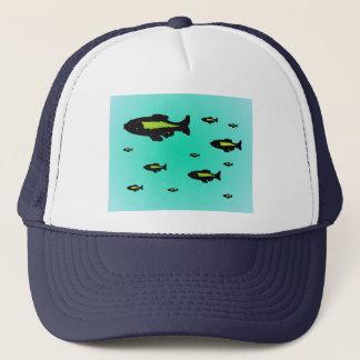 """""""魚の学校""""の帽子 キャップ"""