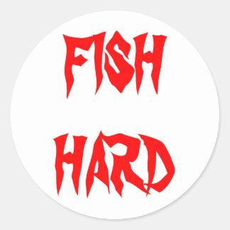 魚の懸命のステッカー ラウンドシール