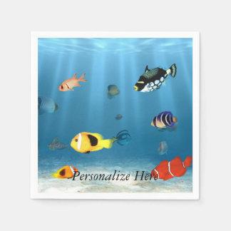 魚の海洋 スタンダードカクテルナプキン