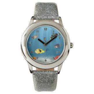魚の海洋 腕時計
