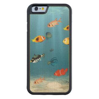 魚の海洋 CarvedメープルiPhone 6バンパーケース