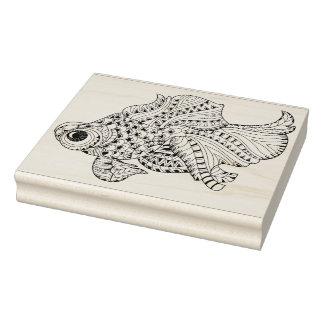 魚の落書き ラバースタンプ