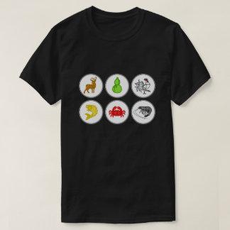 魚の車海老のカニのベトナム人のサイコロのゲームのワイシャツ Tシャツ