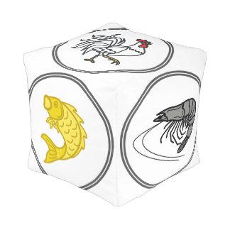 魚の車海老のカニ-サイコロのゲーム プーフ