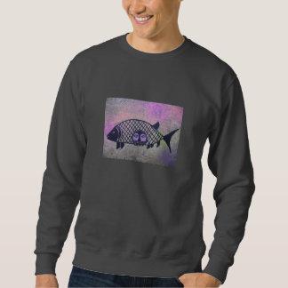 魚の顔 スウェットシャツ