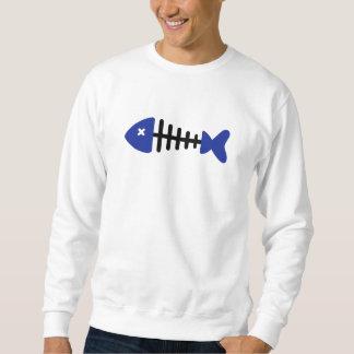 魚の骨の魚 スウェットシャツ