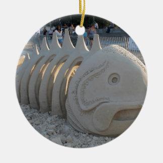 魚の骨 セラミックオーナメント