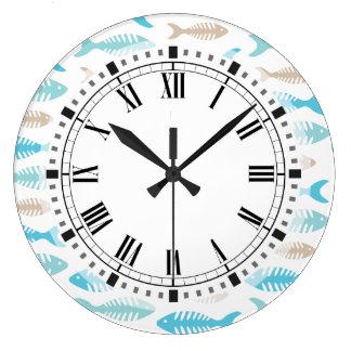 魚の骨 ラージ壁時計