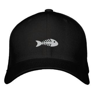 魚の骨 刺繍入りキャップ