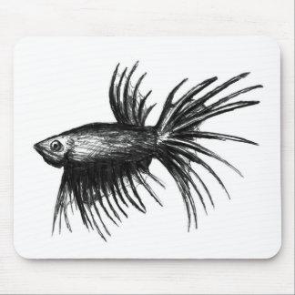 魚のBettaのシャムの戦いのsplendens マウスパッド