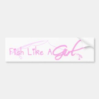 魚は女の子を好みます バンパーステッカー