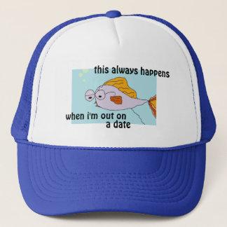 魚は日付のおもしろTシャツ及びティーで常に起こります キャップ