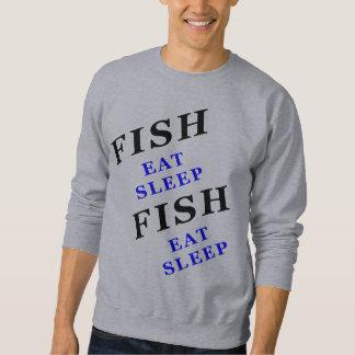 魚は睡眠を食べます スウェットシャツ