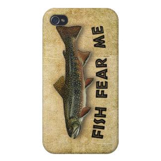 魚は私をおもしろいな魚釣り恐れています iPhone 4 COVER