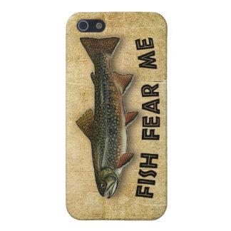 魚は私をおもしろいな魚釣り恐れています iPhone SE/5/5sケース