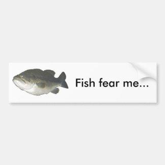 魚は私を…恐れています バンパーステッカー