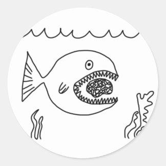 魚は頭脳を食べます ラウンドシール