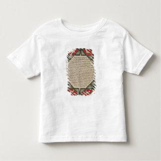 魚を描写するヘブライ語聖書からのページ トドラーTシャツ