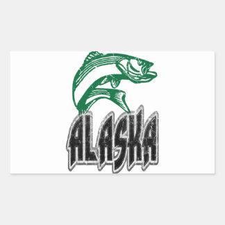 魚アラスカ 長方形シール