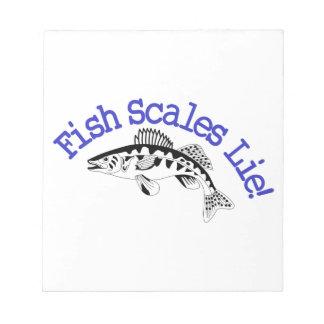 魚スケールのうそ ノートパッド