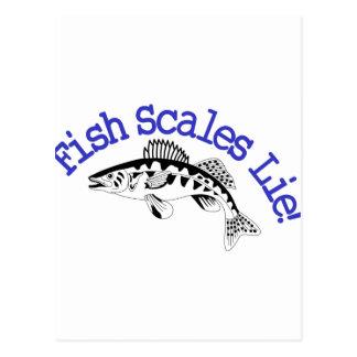 魚スケールのうそ ポストカード