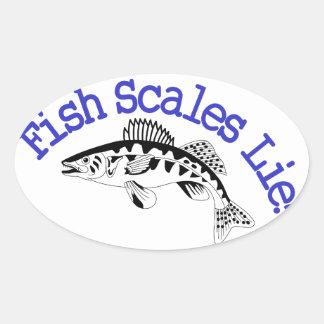 魚スケールのうそ 楕円形シール