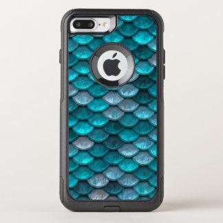 魚スケールパターンきらめくのティール(緑がかった色) オッターボックスコミューターiPhone 8 PLUS/7 PLUSケース