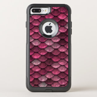 魚スケールパターンきらめくのピンク オッターボックスコミューターiPhone 8 PLUS/7 PLUSケース