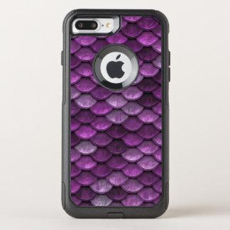 魚スケールパターンきらめくの紫色 オッターボックスコミューターiPhone 8 PLUS/7 PLUSケース