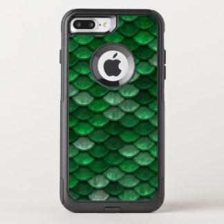 魚スケールパターンきらめくの緑 オッターボックスコミューターiPhone 8 PLUS/7 PLUSケース