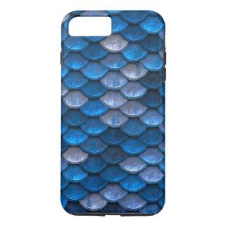 魚スケールパターンきらめくの青 iPhone 8 PLUS/7 PLUSケース