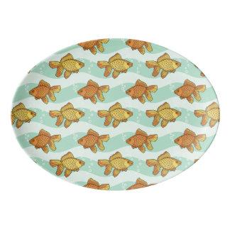 魚パターン 磁器大皿