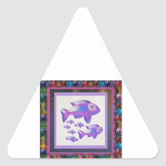 魚ペットアクアリウムの装飾の子供部屋のおもしろいのギフト 三角形シール