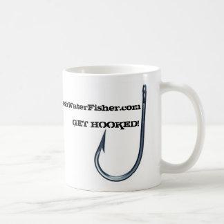 魚ホック240、FreshWaterFisher.comは、引っ掛けられて得ます! コーヒーマグカップ