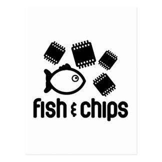 魚及び破片 ポストカード
