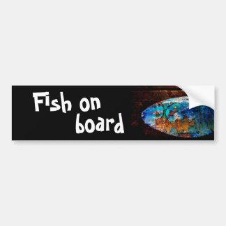 魚船上に バンパーステッカー