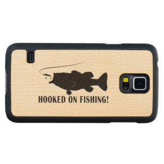 魚釣りで引っ掛けられる CarvedメープルGalaxy S5スリムケース