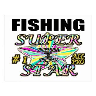 魚釣りのスーパースター ポストカード