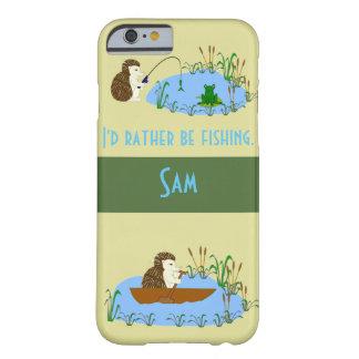 魚釣りのハリネズミの電話箱 iPhone 6 ベアリーゼアケース