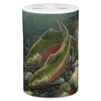 魚釣りのバスセットの銀鮭の魚の浴室セット バスセット