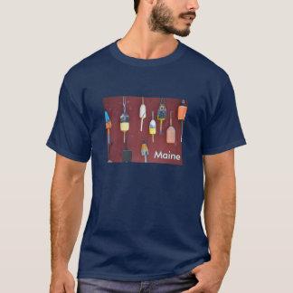 魚釣りのブイメイン Tシャツ